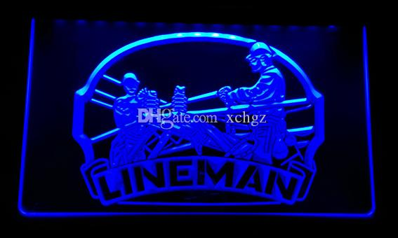 2018 F115 Lineman Repairs Services Display New 3d Led Neon Light