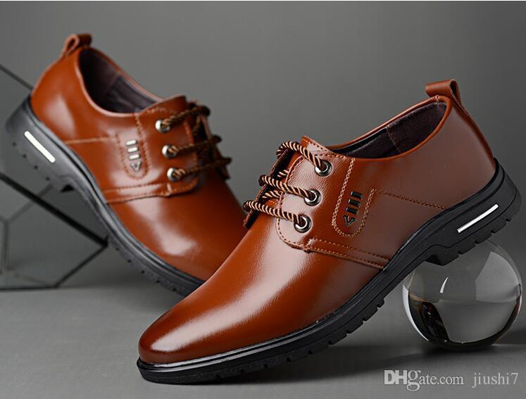 Chaussures de mariage en cuir véritable pour hommes, affaires, chaussures de ville coréenne pour hommes et femmes