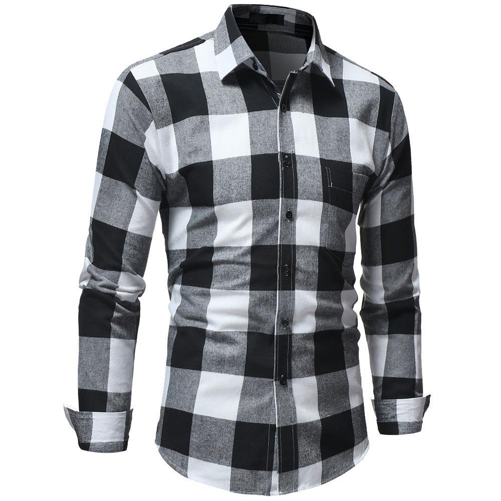 Plaid Shirt Men Shirts 2018 New Fashion Chemise Homme Mens Checkered