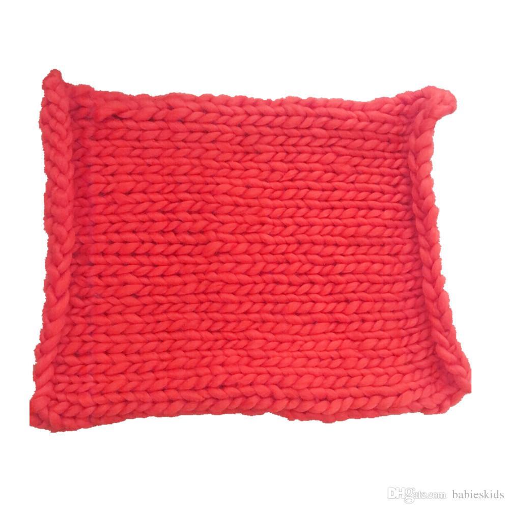 Новый 1 шт. ручной одеяло мягкая шерсть вязание одеяло новорожденный фото реквизит фон ковер Baby Shower Wrap полотенце