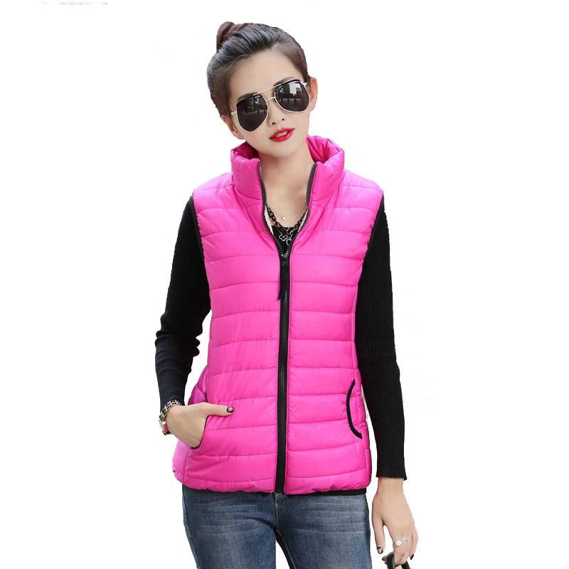 53dcbfb39ed Hot Autumn Winter Coat 2019 Women Ladies Gilet Colete Feminino Casual  Waistcoat Female Sleeveless Cotton Vest Jacket Plus Size Online with   34.71 Piece on ...