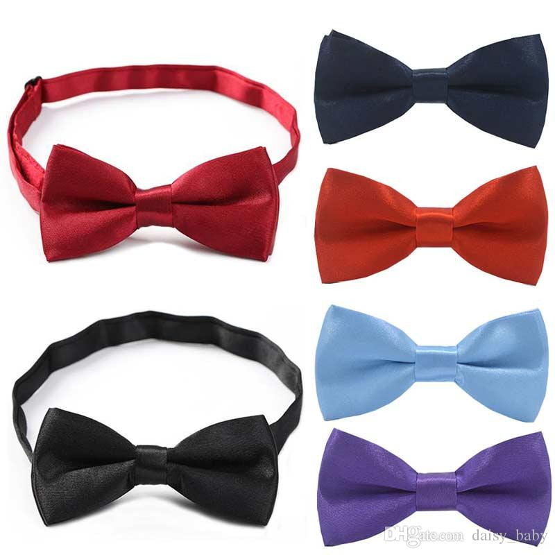 f80e26795170 Child Bow Tie Boys Girls Adjustable Neck Bowtie Children Solid Bowties Kids  Tie Casual Neck Ties Toddler Bow Tie And Suspenders Bow Tie Kids From  Daisy_baby ...