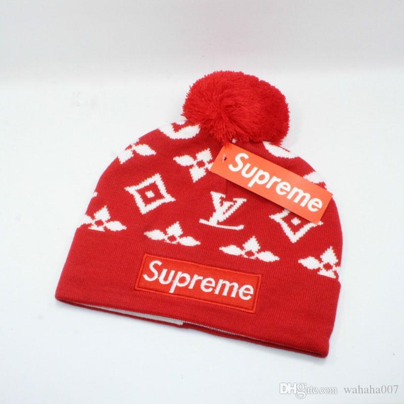 2e8a7bf2513 Brand Beanies Women Men Knitted Hats Designer Winter Warm Beanie ...