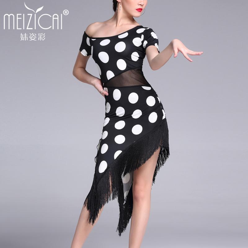Acquista Nuovi Costumi Di Danza Latina Donne Tango Salsa Rumba Vestito Da  Ballo Moderno Vestiti Da Ballo Latino Dancewear M 168684fe639