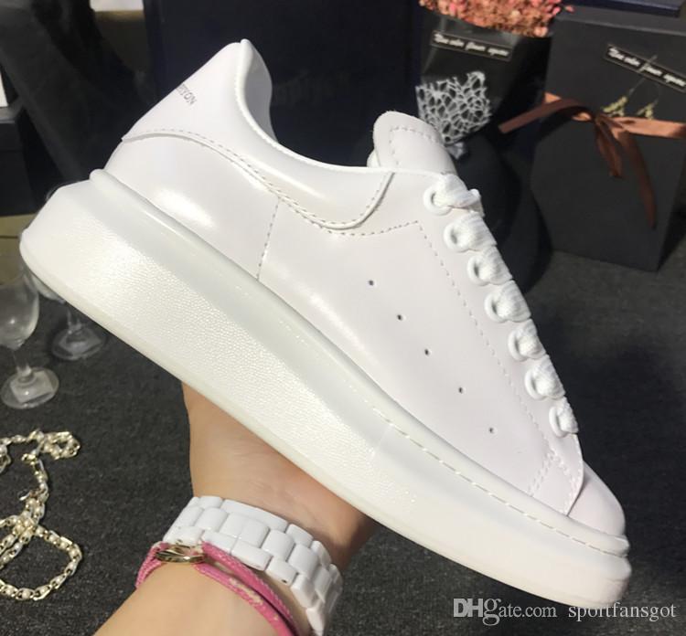 5f3f663539de 2018 Mode Schuhe Designer Schuhe Höhe erhöhen Frauen Männer Turnschuhe  Freizeitschuhe Feste Farben Männer Damen Sneakers Kleid Shoeize 35-44