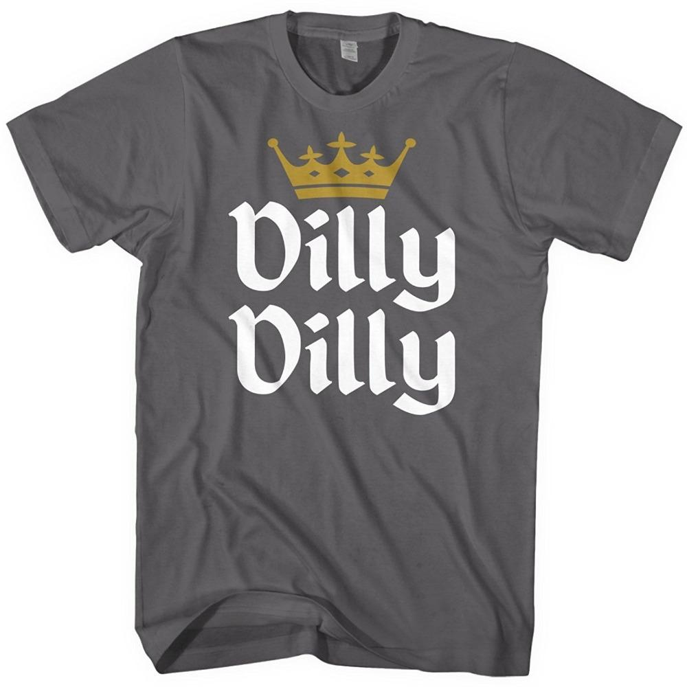 7354f4f0a3c 2018 New Dilly Dilly Funny Beer King Light Joke - Mens Cotton T ...