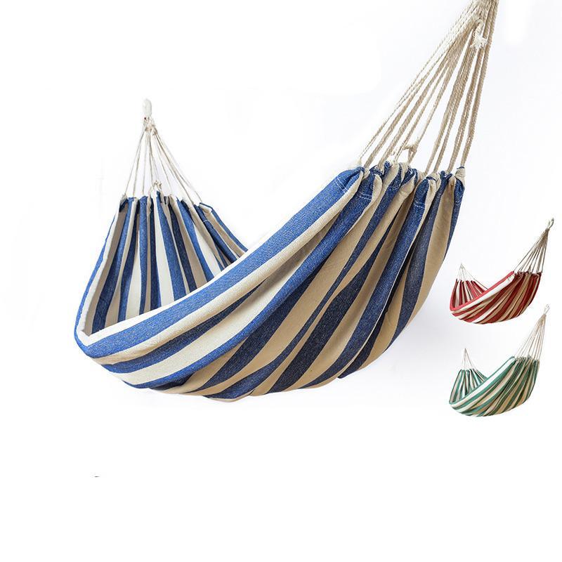 2018 big size hammock portable camping garden beach travel hammock
