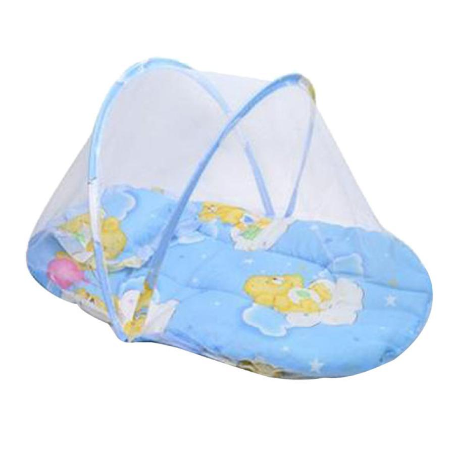 new baby bed mosquito cushion portable folding crib mattress child
