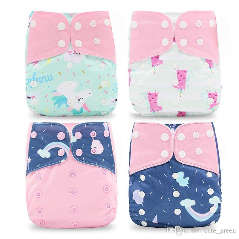 Washable Cloth Diaper Cover Adjustable Nappy Waterproof PUL Reusable Cloth Diapers Available 0-2years 3-15kg baby