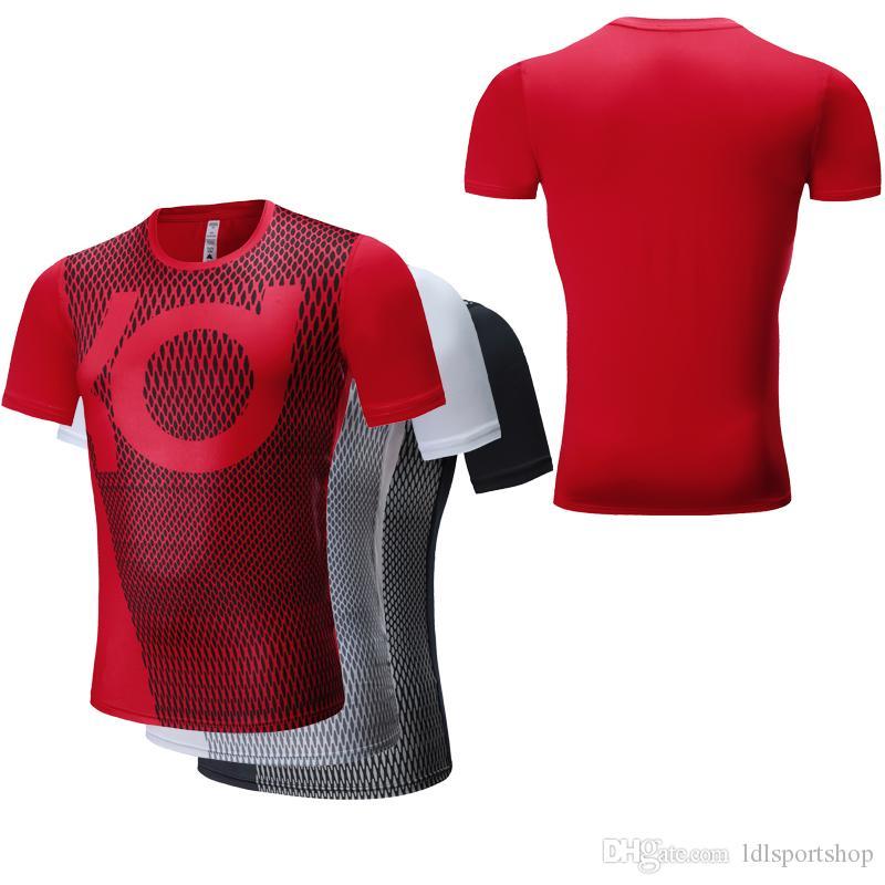 Acheter 2018 Hommes Gym Running T Shirt À Séchage Rapide Sport Musculation  Vêtements Fitness Compression Serré Basket Football Jerserys Homme Sport  Court T ... 94bfa4e7366