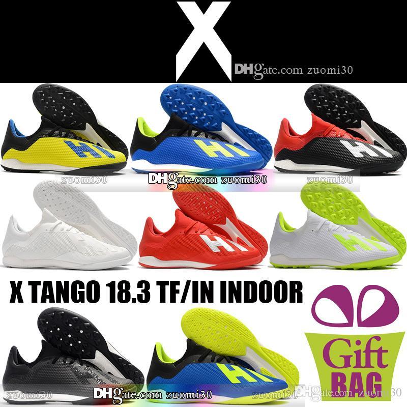 Acquista Nuove Scarpe Da Calcio Indoor Originali X Tango 18.3 Scarpe Da  Calcio Da Uomo Tf Ic Tacchetti Da Calcio Turf Blu A  36.69 Dal Zuomi30  7e3bc629365