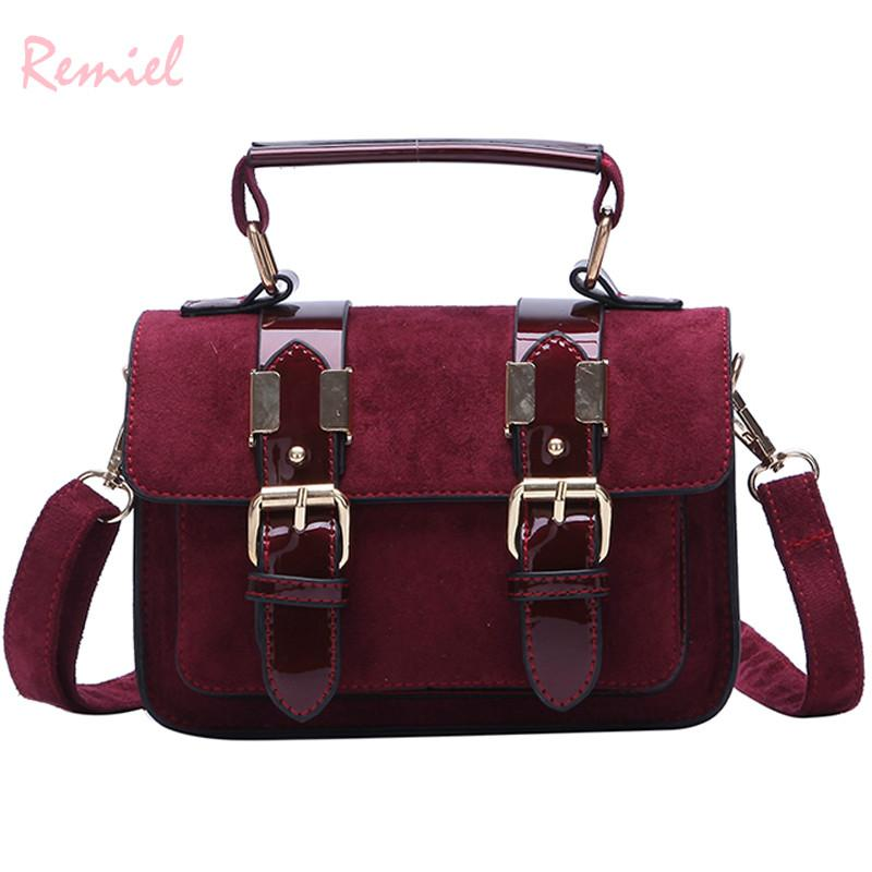 Retro Fashion Female Tote Bag 2018 New Quality Matte Leather Women s ... 33e64ed1602fa