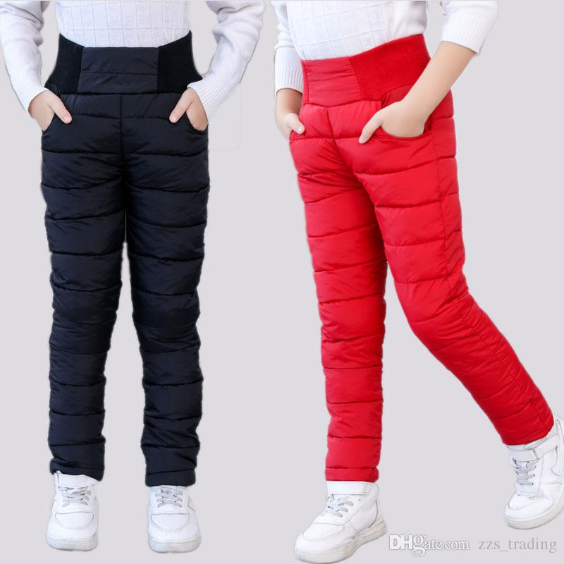 Fashion Girls Boy Pants Winter Padded Thick Warm Trousers Kids Babys Boy Cotton Pants Casual Children's High Waist Leggings Pant Hot product