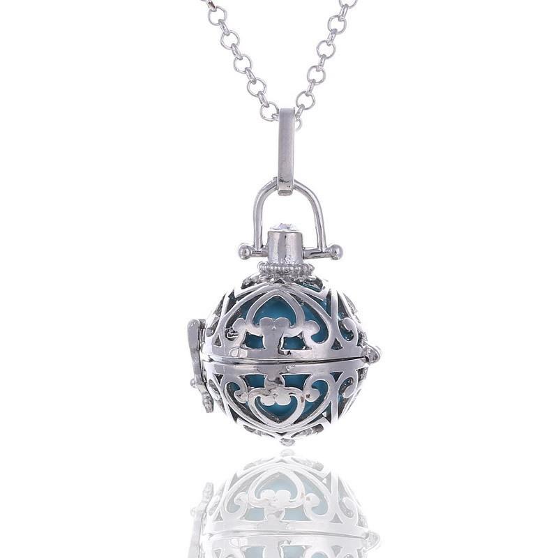 Ángel bola colgante Lu Ying mexicana Bola Jaula nueva llamada Sonidos de la bola de 16 mm Armonía con la joyería de cadena del collar de regalo