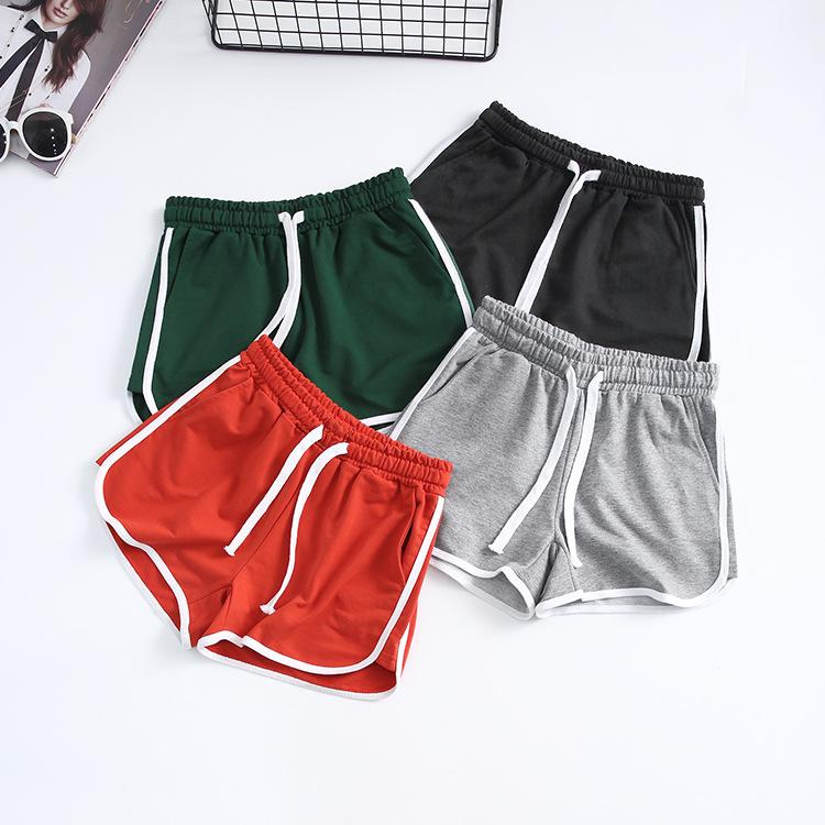 cc94c8406cb 4 colors 2017 Girls Workout Running Shorts for Women Short Training Sports  Short Women Athletic Shorts Fitness Elastic Waist