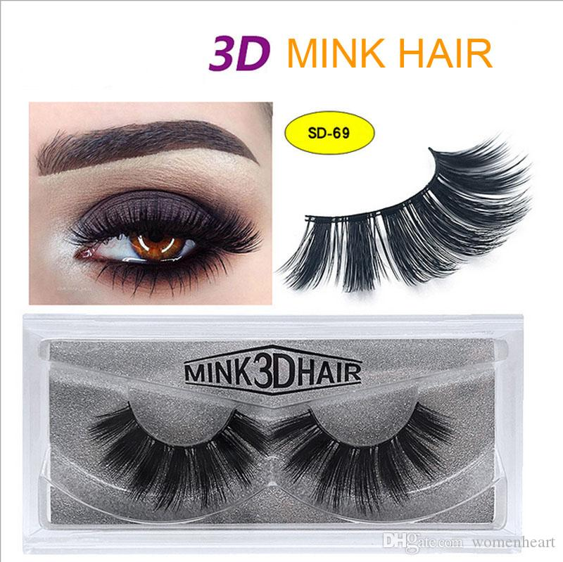 New High Quanlity 3d Real Mink Lashes Soft Thick Ups Free Shipping 100pair Wholesale 3d Mink Eyelashes Eye Lashes China Vendor Beauty & Health False Eyelashes