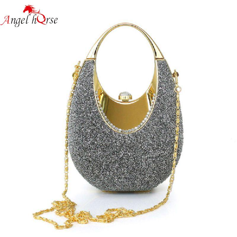 34747032f58a Angel Horse Ladies Bags Color Yarn Clutch Evening Handbags Fashion Ladies  Mini Bag Luxury Handbags Women Bags For Wedding Party Silver Clutch  Crossbody ...