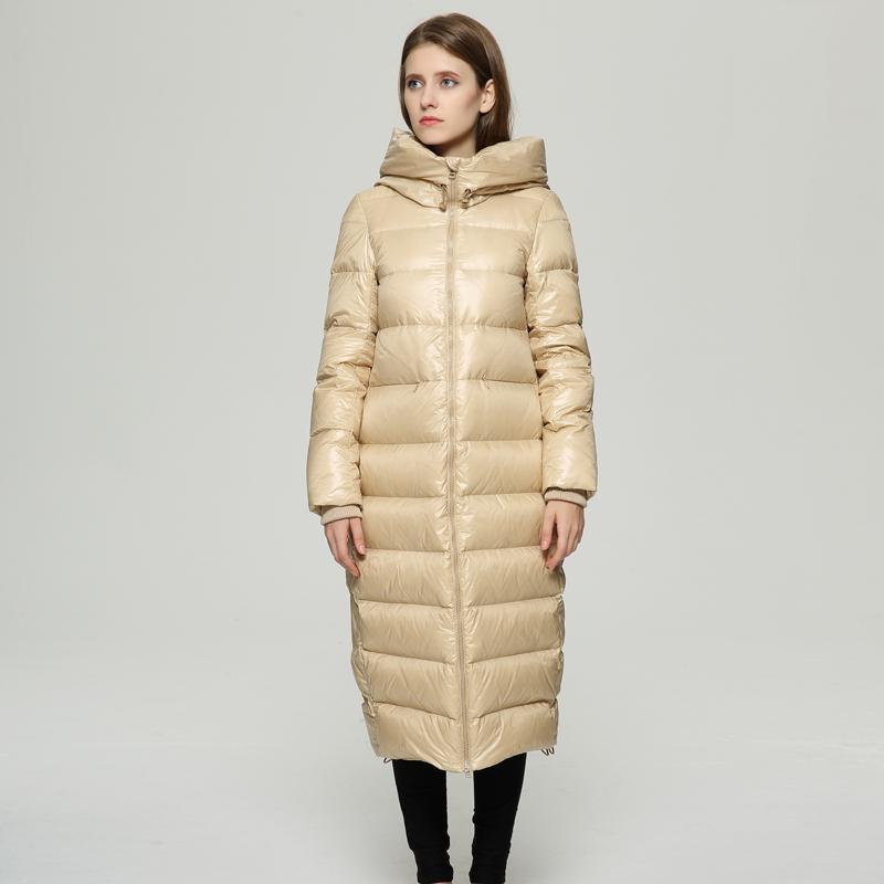 f3679c350a4b High Quality Winter White Duck Down Jacket Women Fashion Long Down ...