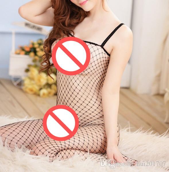 Nueva Medias de malla sexy Pantalones de entrepierna abierta Ropa interior erótica femenina Evitar quitarse la ropa interior para mujeres Ropa de niña