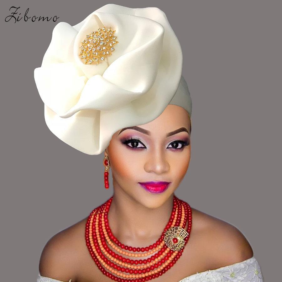 f0e8b15b8227 2019 Nigerian Gele Headtie Aso Ebi Gele Ready To Wear Auto Hele African  Turban Cap Aso Oke Headtie 2018 From Easme, $56.93 | DHgate.Com