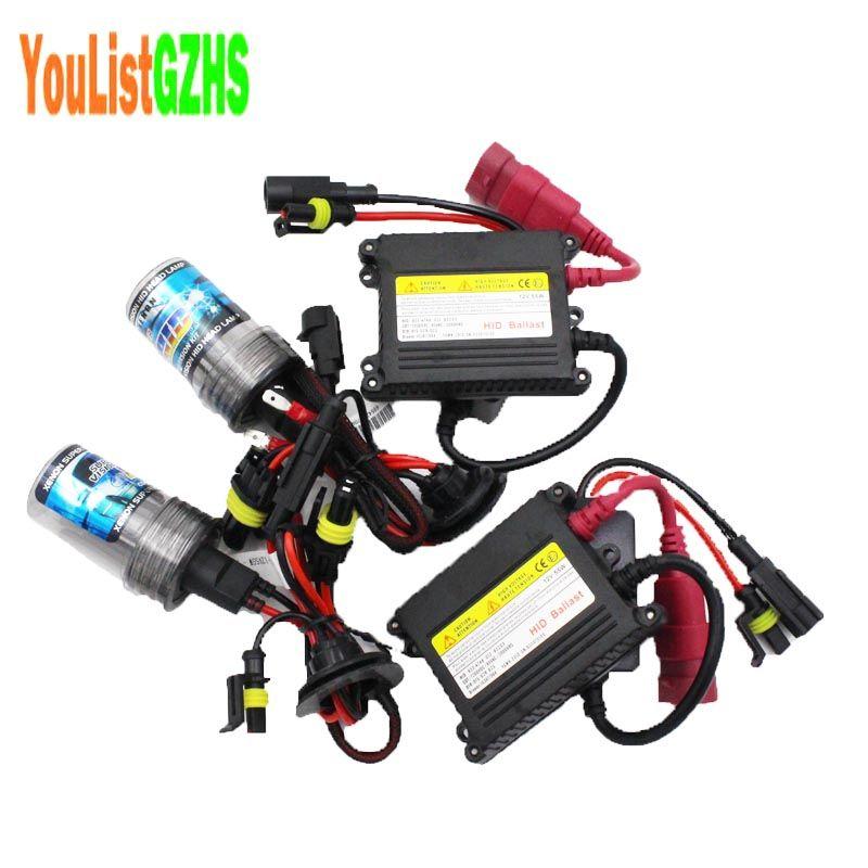 h7 xenon 55w hid kit car headlight hid 12v HID kit H1 H3 H8 H9 H10 H11 9005 HB3 9006 Hb4 880 881 H4 H4-3 bixenon 55w Slim Ballast headlamp