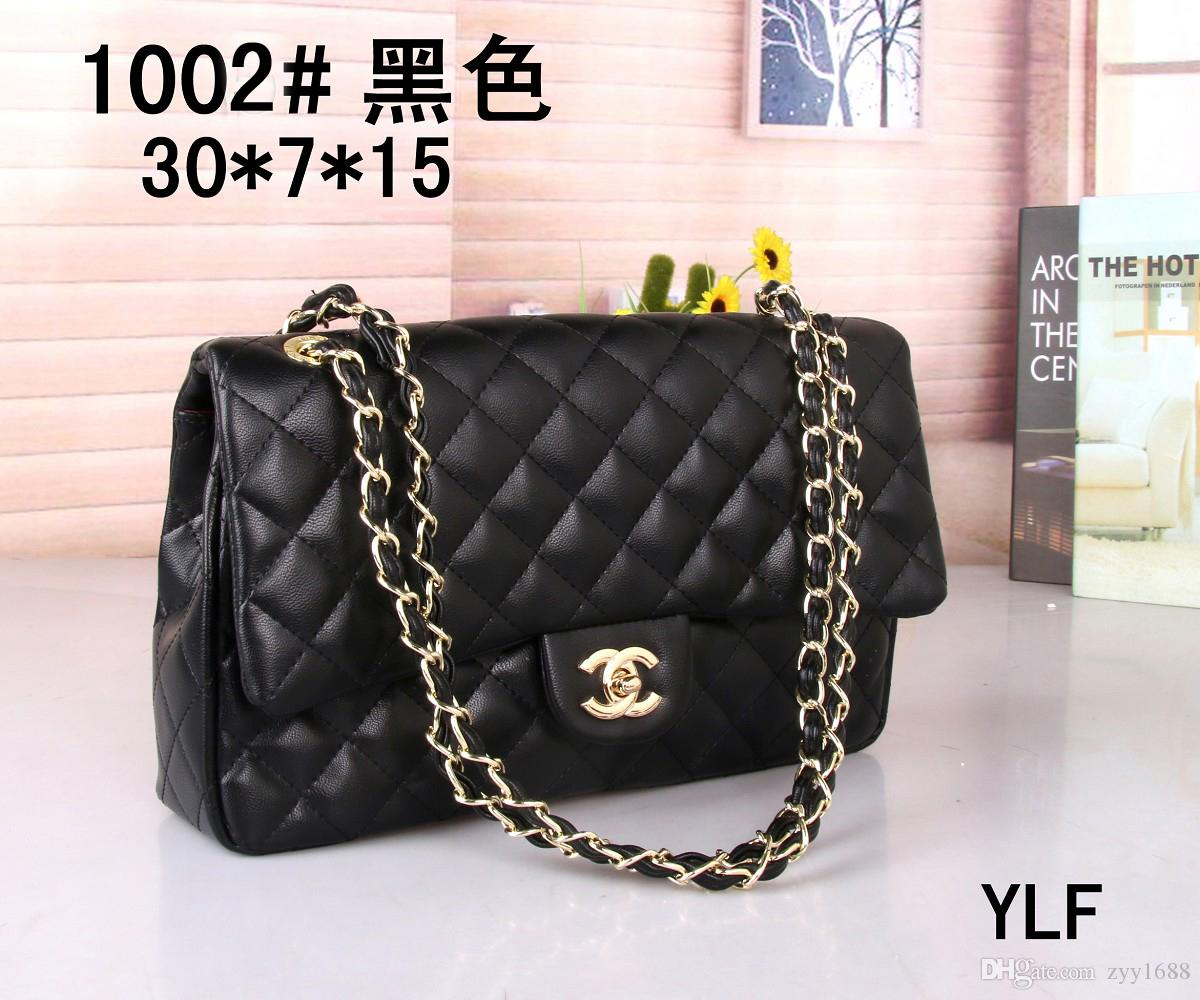 91c43b82dbf 2018 Classic Le Boy Flap Bag Women s Plaid Chain Bag Ladies Luxury High Quality  Handbag Fashion Designer Purse Shoulder Messenger Bags 30cm Handbag Lady s  ...