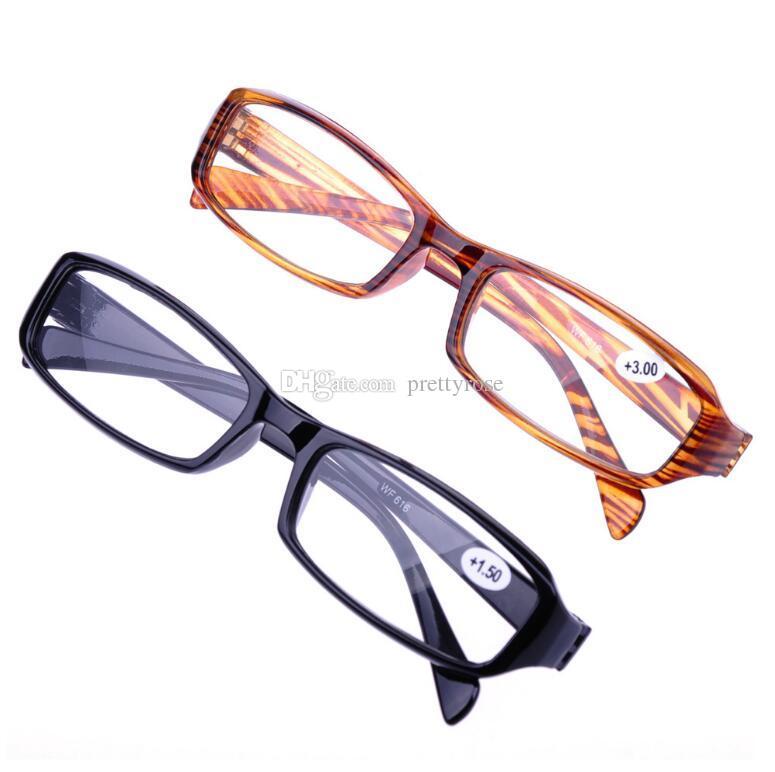 Очки для чтения Мужчины Женщины очки модели унисекс случайные ультра-легкий 1.0-4.0 простой полезный популярный подарок моды для родителей