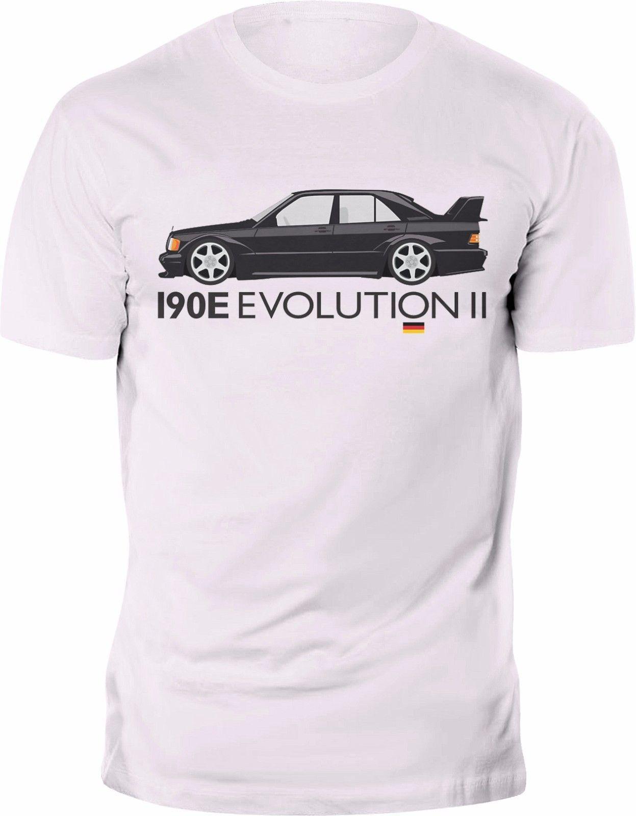 Mercedes Benz 190E Evo 2 II Classic T Shirt Custom Print T Shirts T