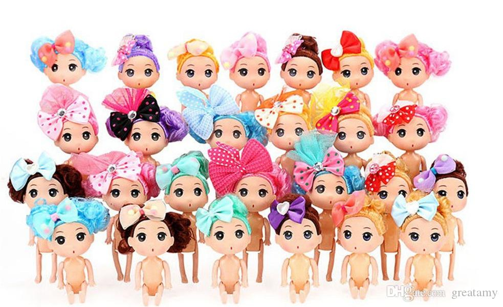 Cartoon Movies Mini Doll Fairy Princess Model Doll Toys Home Decoration Action Figures Party Cake Girl Children Gift
