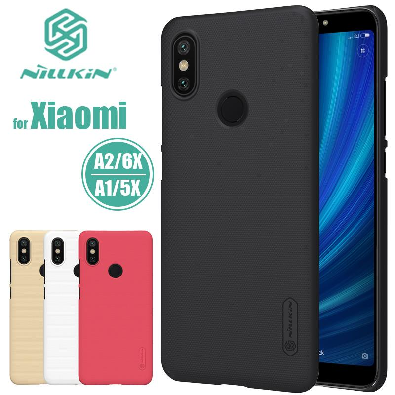 Xiaomi Mi A2 Mi 6X MiA2 Nillkin Super Frosted Shield Hard Back PC Cover  Case for Xiaomi Mi5X MiA1 Mi 5X A1 Nilkin Phone Case