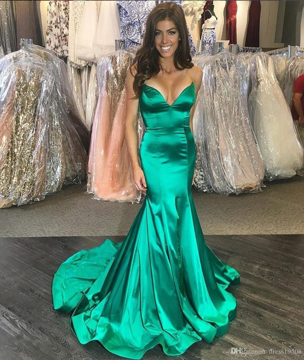 Mermaid Prom Evening Dresses Sweetheart Sleeveless Sweep Train Draped Formal Party Pageant Vestidos De Maid Of Honor Dresses Evening Gowns