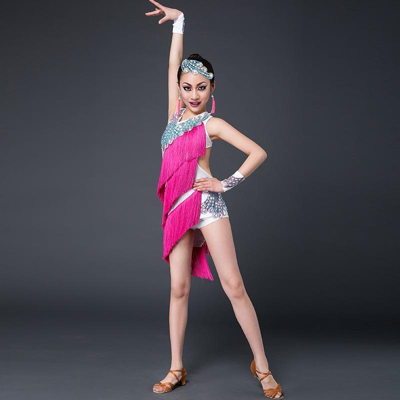 Compre 2016 Sexy Latin Dance Dress Mujeres Niñas Poliéster Flamengo Salsa  Samba Tango Salón De Baile Competencia Lady Dance Top A  80.75 Del  Feixianke ... a296a51ea244f