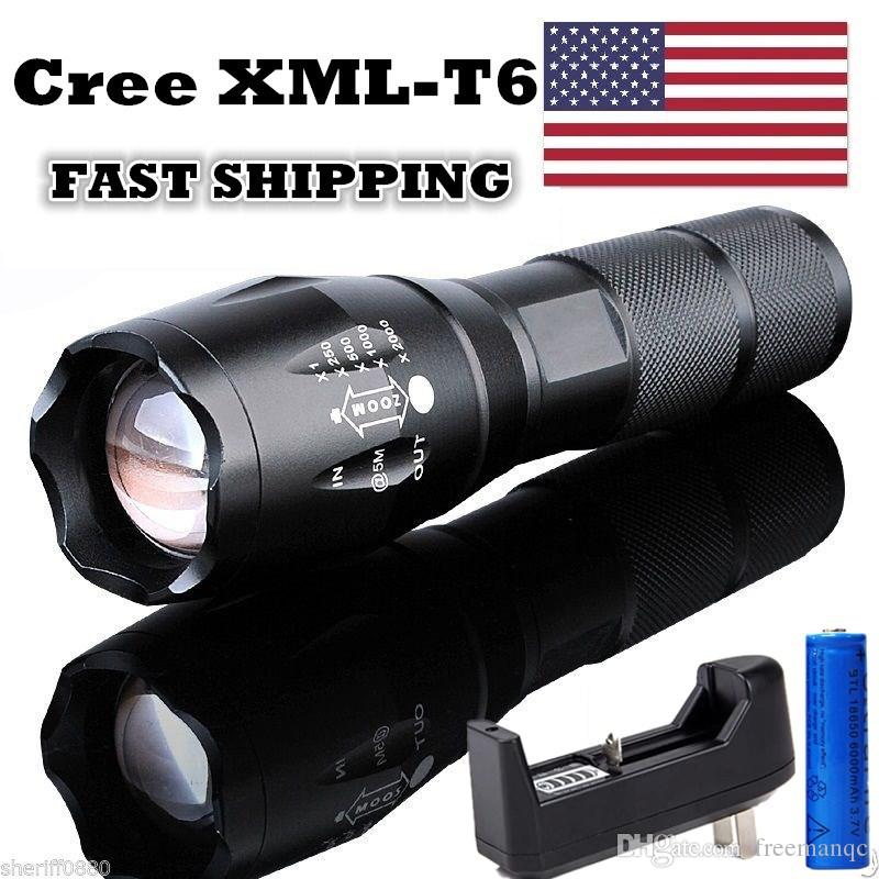 5000lm Cree Xml Flashlight T6 Tactical Led Torch Rechargeable
