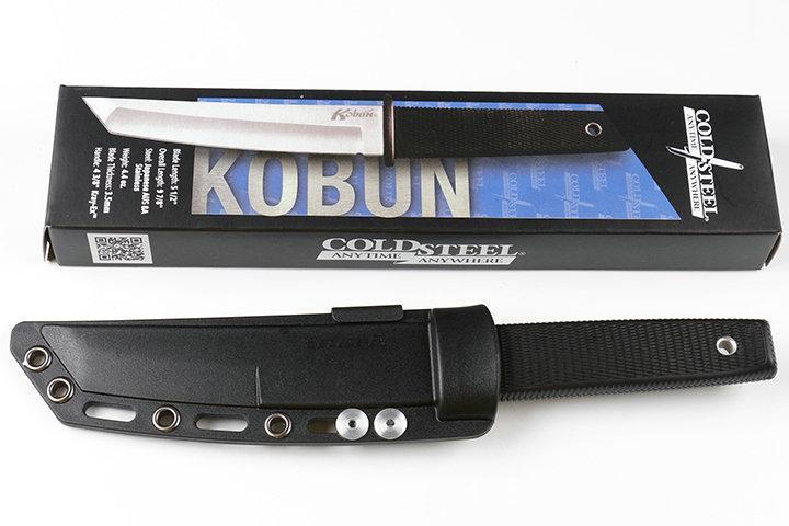 Nouvelle Arrivée Cold Steel 17T KOBUN Survie Stright couteau Tanto Point Satin Blade Utility Lame Fixe Couteau Chasse Outils Livraison gratuite