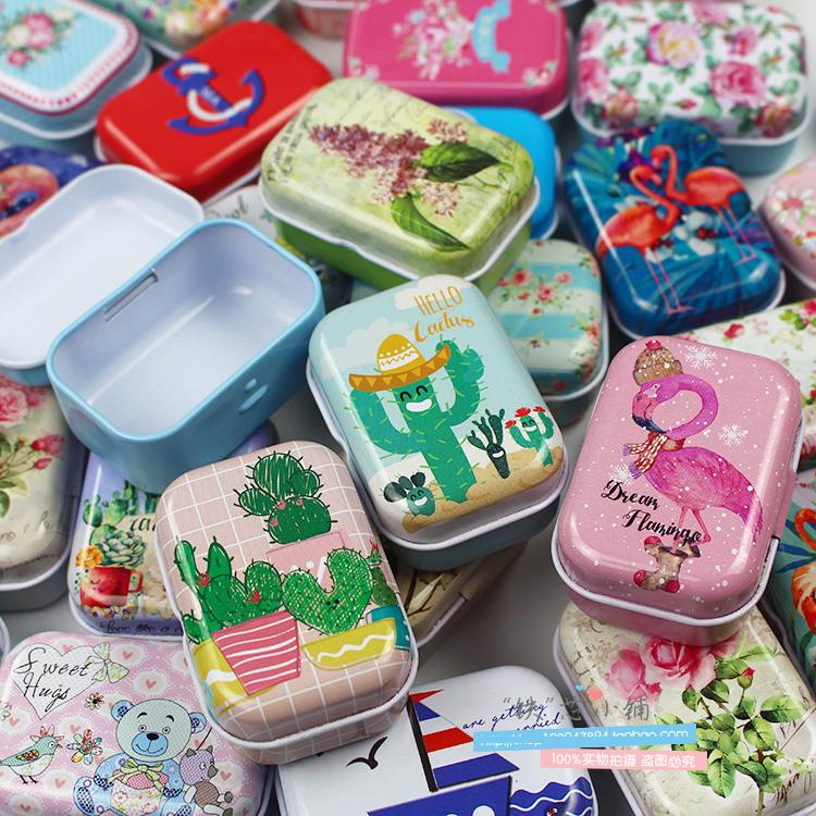 1Pc Vintage Cartoon Tin Box 5.5*3.8*2.5cm Candy Chutty Mini Storage House Decoration Collectables Display