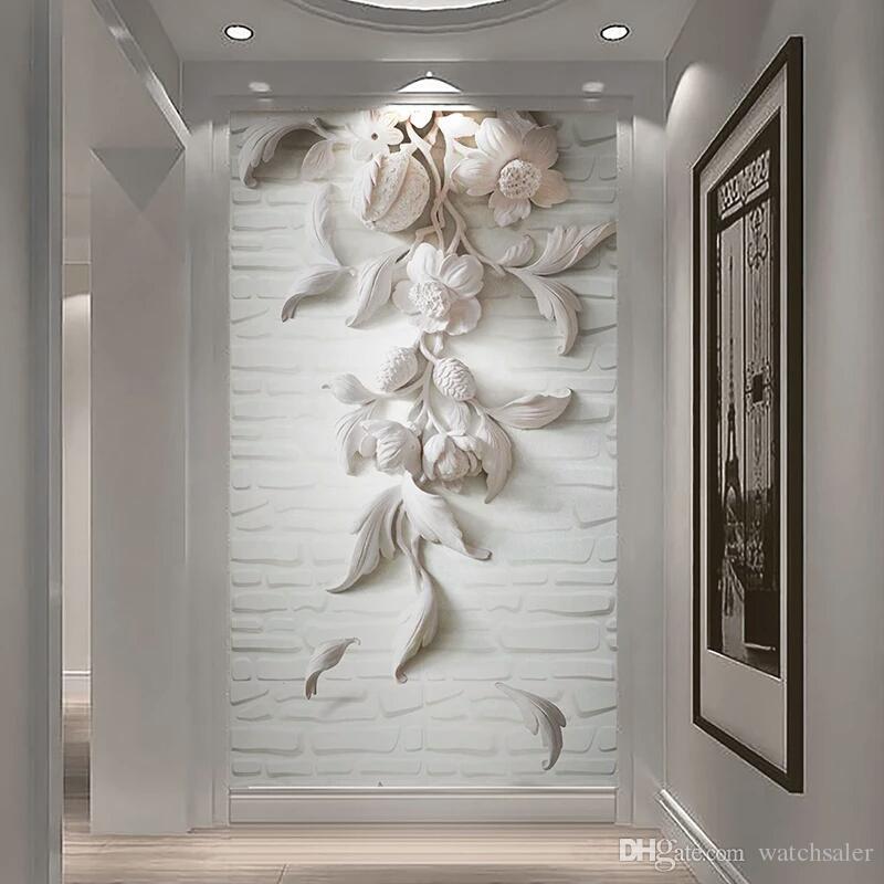 Acheter Papier Peint Photo Personnalise Style Europeen 3d En Relief