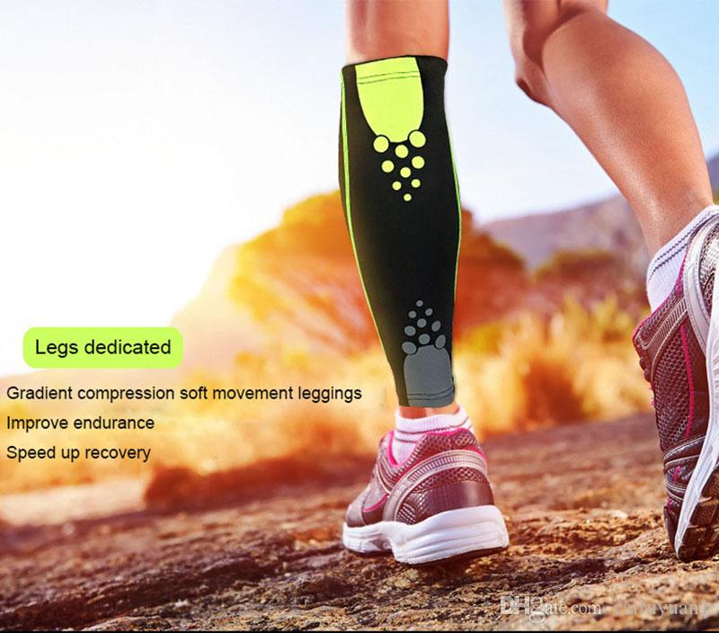 2018 Basketball Football Leg Sleeves Calf Compression Running Cycling Shin Guards UV-Protector Soccer Fitness calcetines
