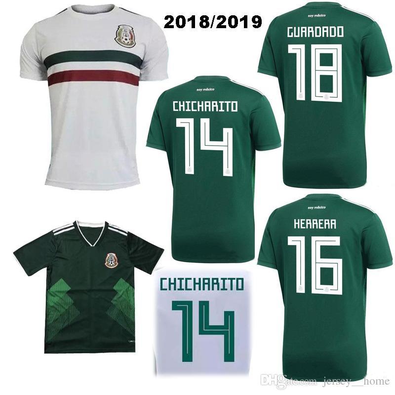 3b2bce6075 Compre 2018 México Home Away Camisas De Futebol LOZANO Camisa De Futebol  2018 Copa Do Mundo CARLOS GUARDADO G.DOS SANTOS Mexico Camisetas CHICHARITO  Maillot ...
