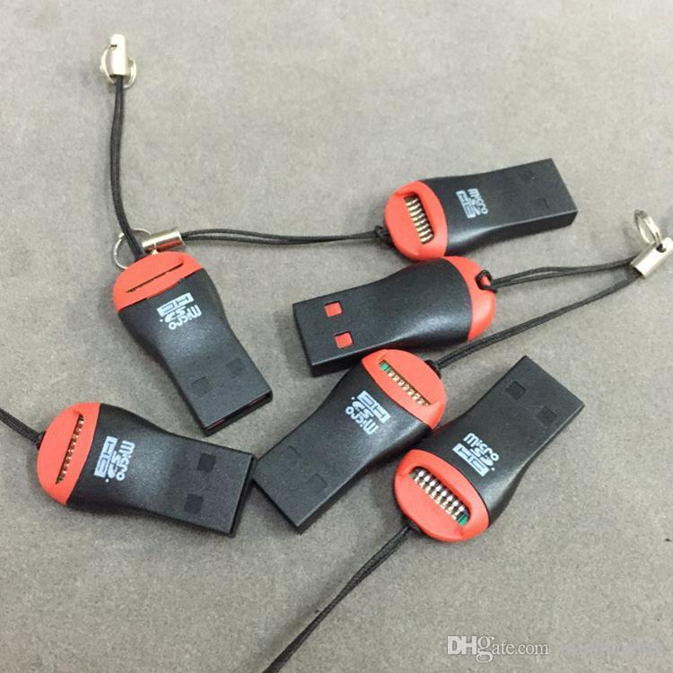 whole hot sale USB 2.0 T-flash micro SD memory card reader TF card reader
