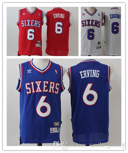 68de13062c6 2018 Retro Mens 6 Julius Erving Philadelphia 76ers Basketball Jerseys  Stitched Hardwood Classic Mesh Julius Erving Retro Basketball Jersey From  ...