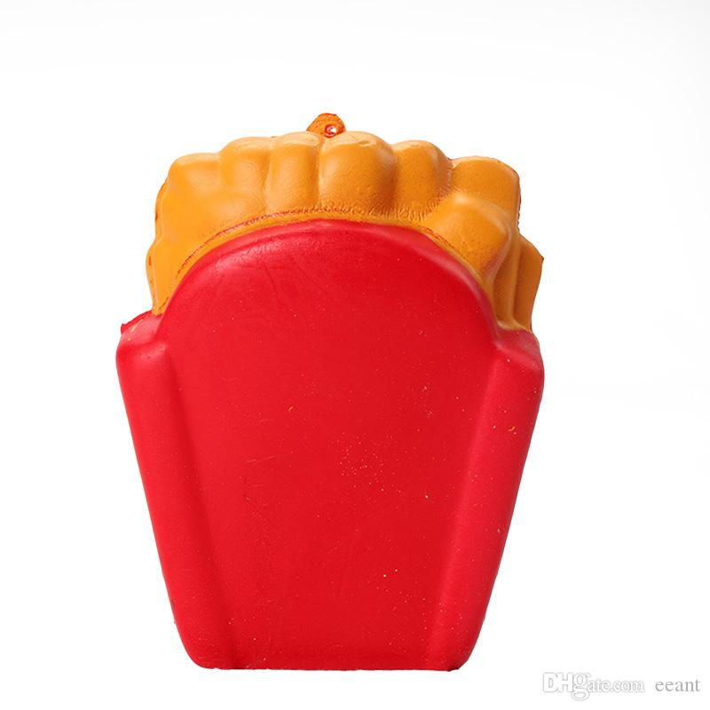 Renkli Kawaii Sevimli Jumbo Kızartması Squishy Yumuşak Kokulu Ekmek Kek Squishy Streç Kızartması squishies Ücretsiz DHL FD0015