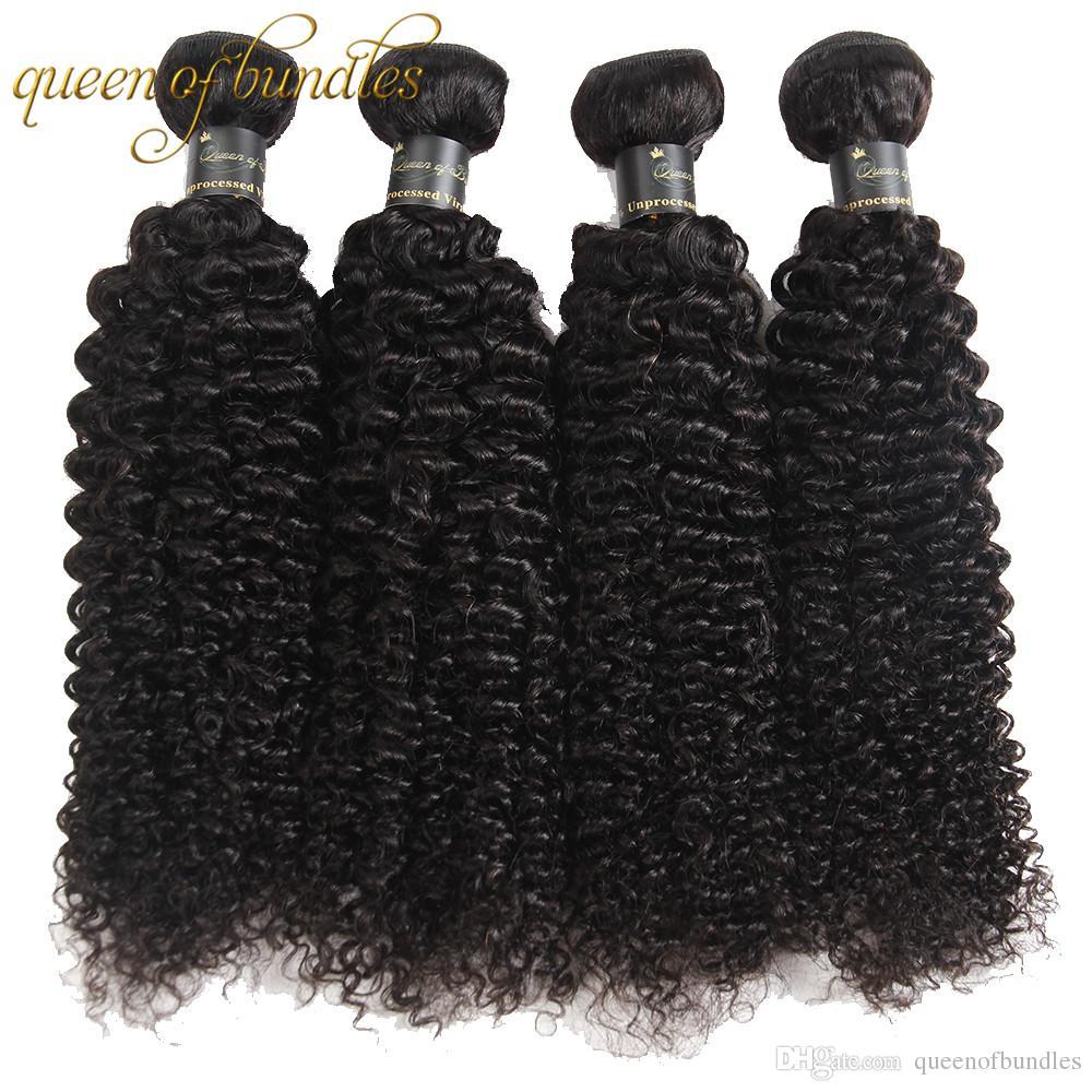 Extensiones rizadas del pelo humano Pelo peruano de Mongolia india brasileña con el pelo de la Virgen malasia frontal del cordón 360 Rizado rizado con el cierre