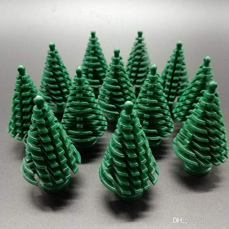 Christmas tree Green plant Building Blocks Mini Trees Plants DIY Blocks Baseplate Small Bricks Base Figures Toy for Children