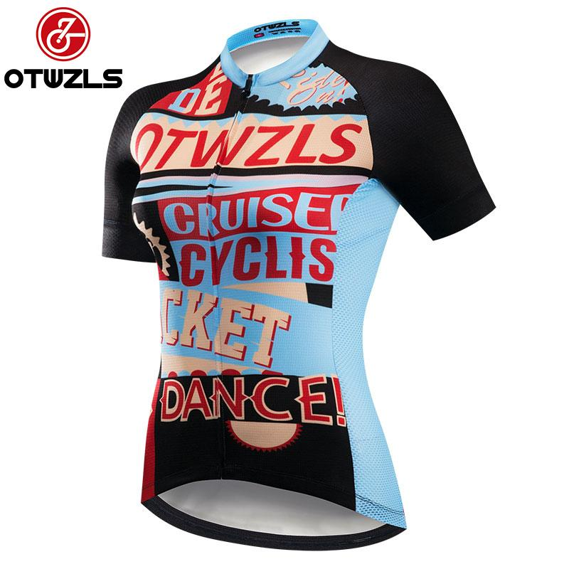 6ced0d45b Women Short Sleeve Cycling Jersey Only 2018 New Style MTB Anti-sweat ...