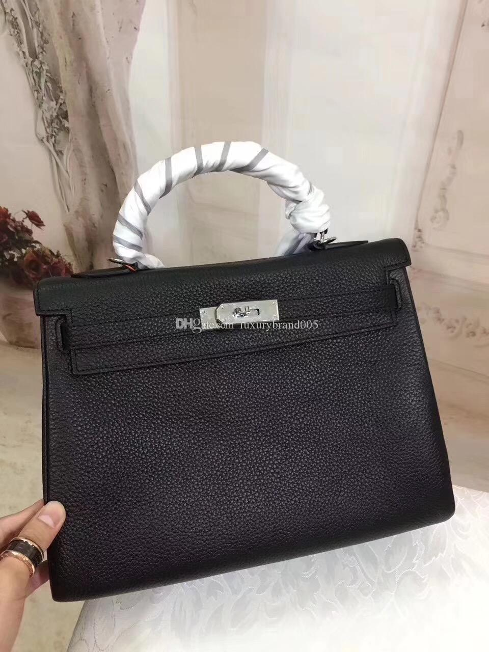 f698aefab8 28CM 2018 New Famous Brand H K Totes Bags Luxury Women Genuine ...