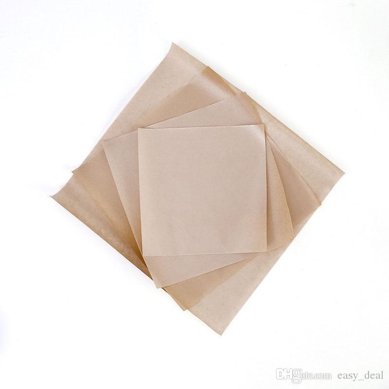 Em branco papel Kraft Papel Encerado Embalagem de Alimentos Embalagem de Alimentos Para Padaria Hambúrguer De Queijo À Prova de Frango QW7072