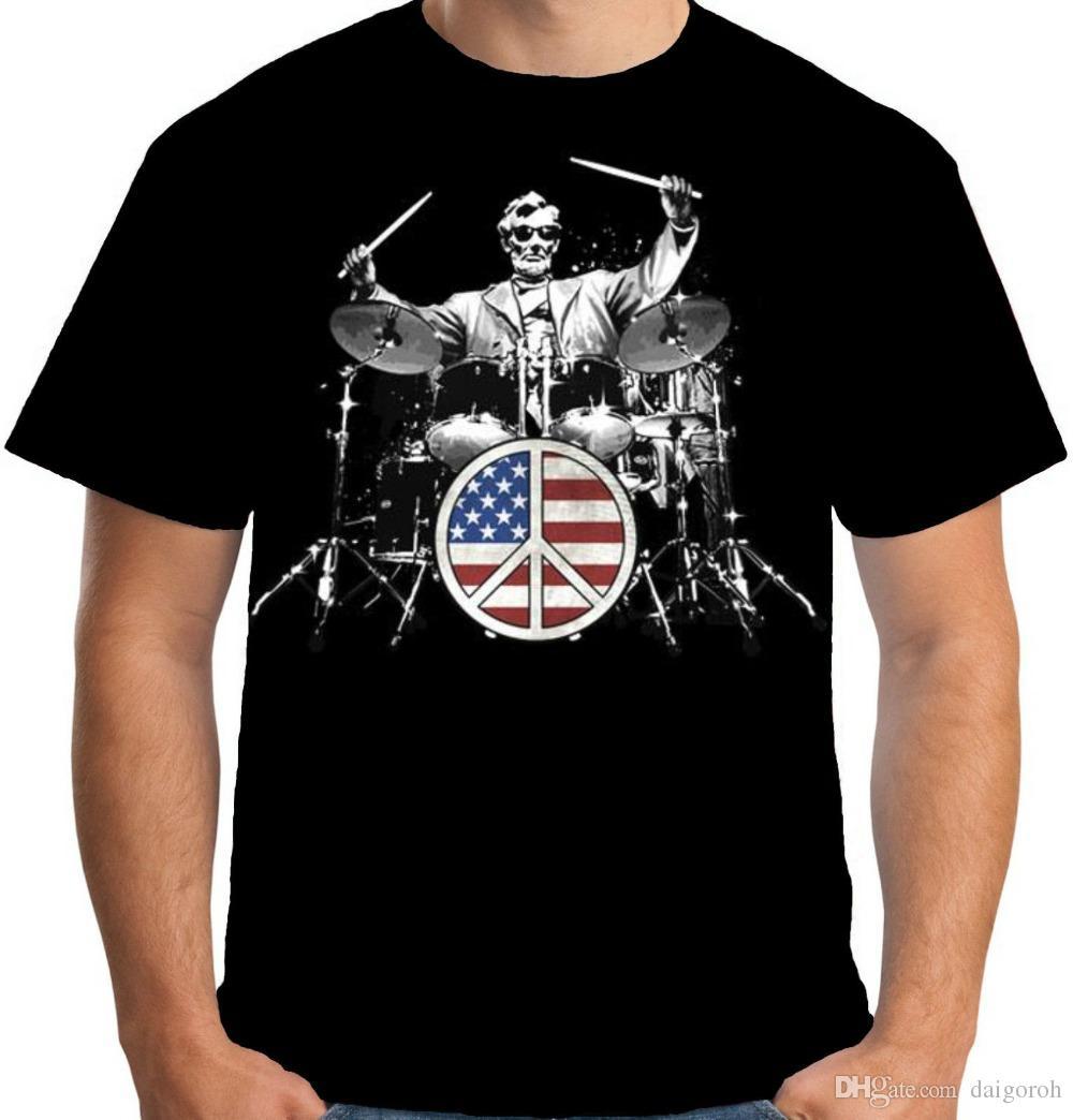 Anime Print Tee Velocitee Womens Rock 101 T Shirt Music Drums