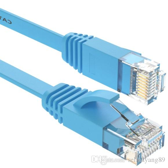 LNYUELEC 25cm cable Pure copper wire CAT6 Flat UTP Ethernet Network Cable RJ45 Patch LAN cable white/black/blue