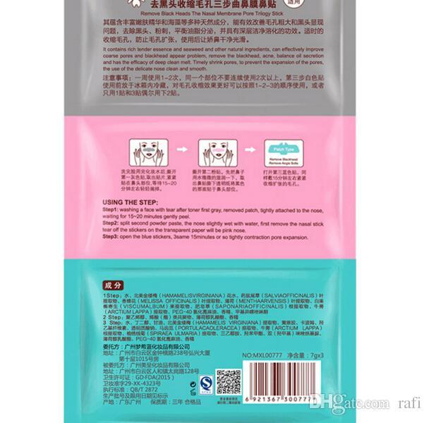 Hot item Naso di maiale Clear Black Head Sticker perfetto 3 passi Clear Black Head Masks Peels Remover Blackhead