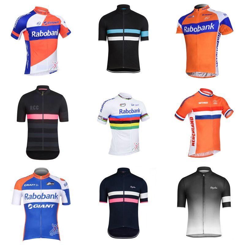 f94469621 RABOBANK RAPHA Team Cycling Short Sleeves Jersey Summer Style Cycling  Jersey Mens Short Sleeve Bike Tops Shirt Riding D323 Long Shirts For Men  Long Sleeve ...